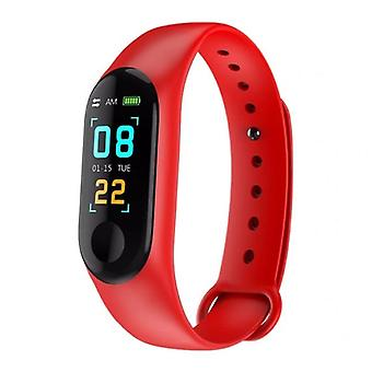 Stuff Certified ® Original M3 Smartband Sport Smartwatch Smartphone Watch OLED iOS Android Red