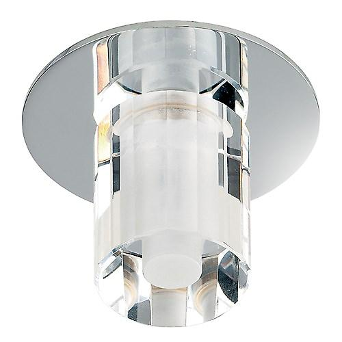 Endon EL-IP-4000 Recessed Chrome Bathroom Shower Light With Crystal Glass - Ip65
