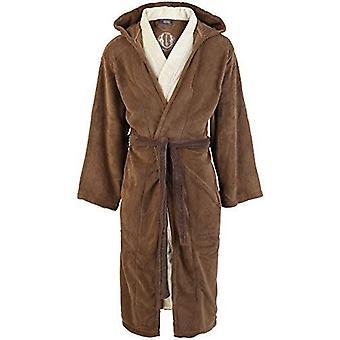 Star Wars Jedi Unisex Adult Bathrobe Brown-Beige - One Size