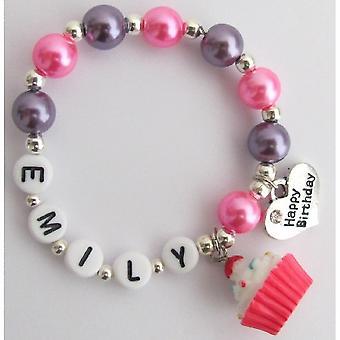 Personalized Happy Birthday Party Bracelet Birthday Party Jewelry