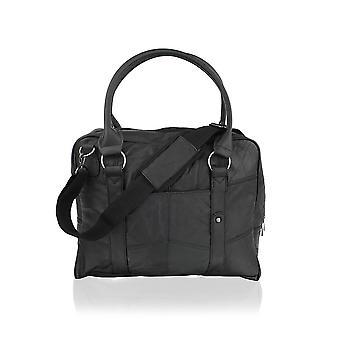 Leather Black Tote Bag 15.0