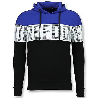 Striped Hooded Sweatshirt-Buy Hoodies Online-Blue