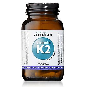 Capsules de vitamine K2 de Viridian 30