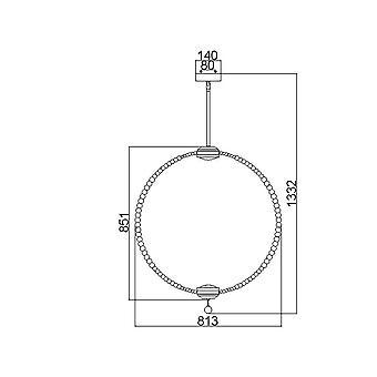 Elstead - Large LED Pendant - Satin Nickel Finish - FE/OBERLIN/P/L