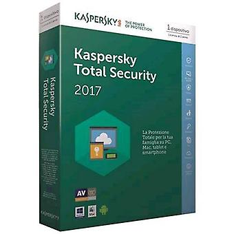 Kaspersky total security 2017 1 user 1 year full version english language