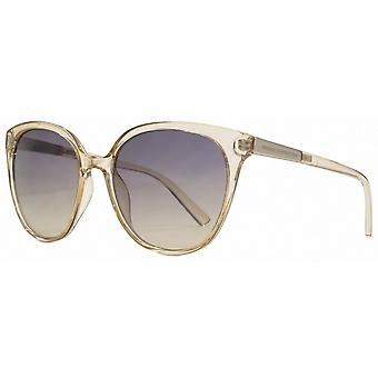 French Connection Slim Oversized Sunglasses - Nude/Grey