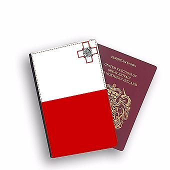 MALTA Flag Passport Holder Style Case Cover Protective Wallet Flags design