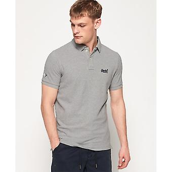 Superdry Classic Pique Polo - Marl gris
