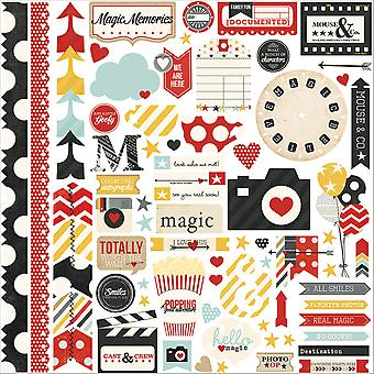 Say Cheese Cardstock Stickers 12