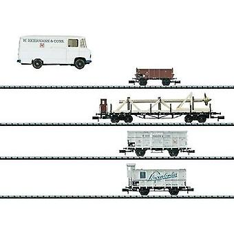 MiniTrix T15094 MiniTrix T15094 N Goods Wagon (Naval Equipment) (4 pcs)