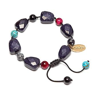 Lola Rose Tasia Bracelet Blue Sandstone and Snowflake Obsidian