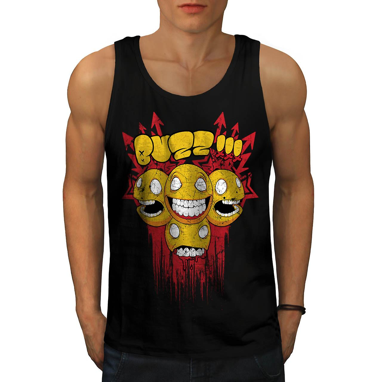 Buzz Zombie Arrow Funny Men Black Tank Top | Wellcoda