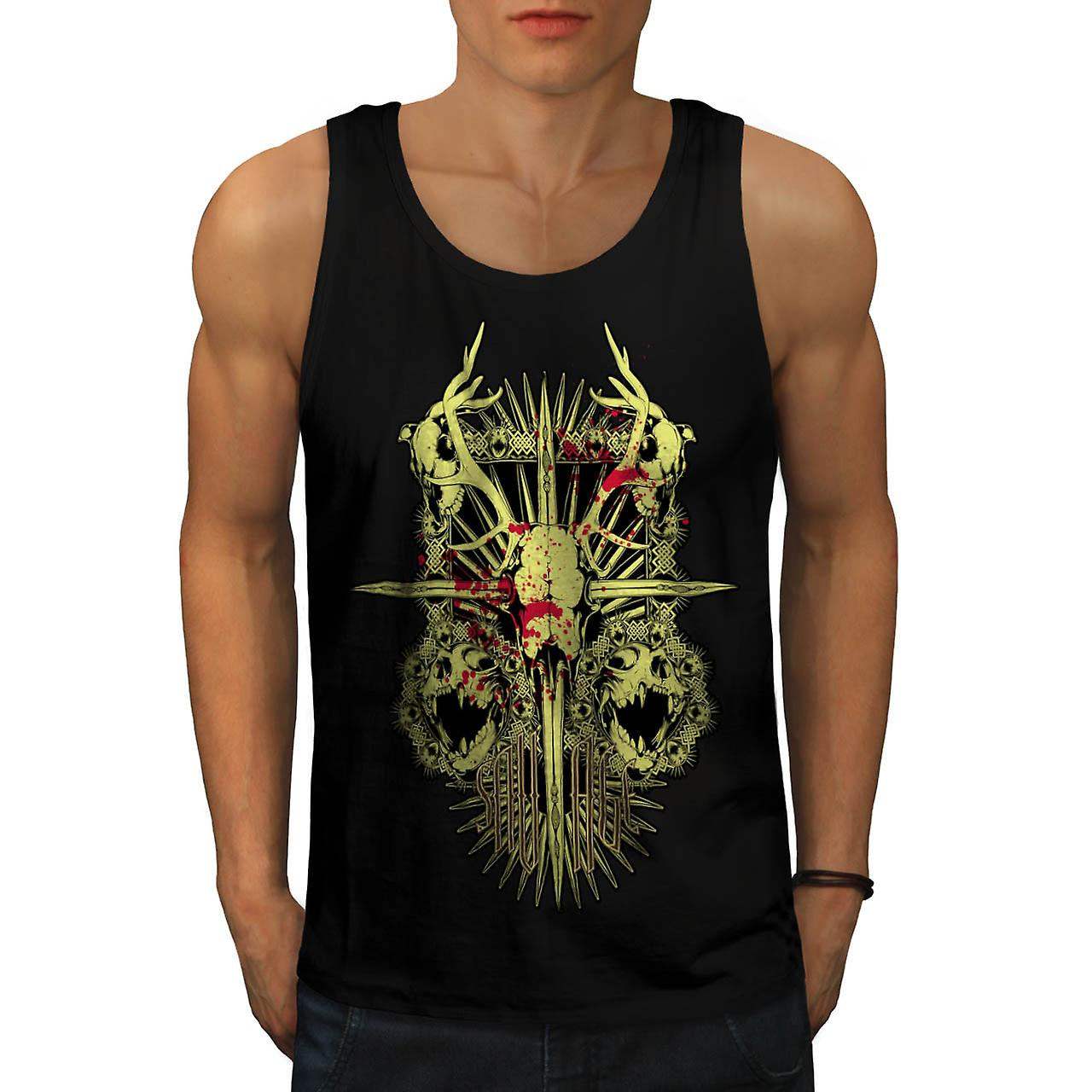 Villmann Monster død Demon Skull menn sort Tank topp | Wellcoda