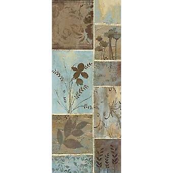 Blå Design I affisch Skriv av Jo Moulton