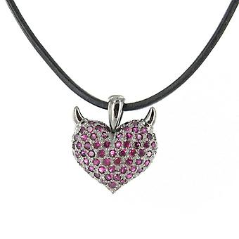 Heartbreaker by Dragon rock ladies silver pendant chain LD AT 54 RE-B