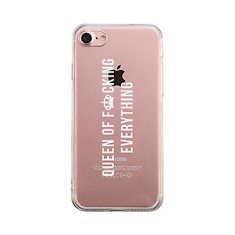 Queen Of Everything Transparent Phone Case Cute Clear Phonecase