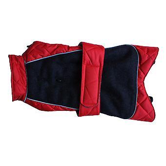Gå gå quiltet termisk frakke rød 24