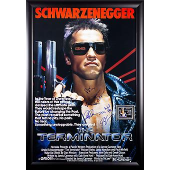 The Terminator - Signed Movie Poster