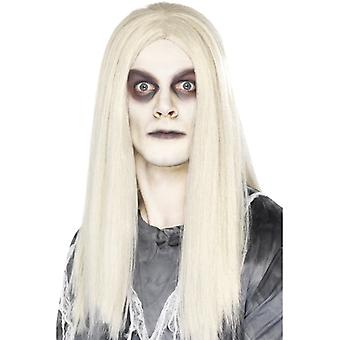 Ghost town zombie Indian wig Halloween White longhair