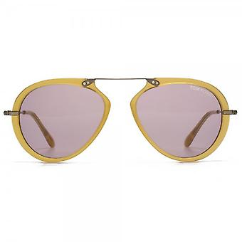 Tom Ford Aaron Sunglasses In Shiny Yellow