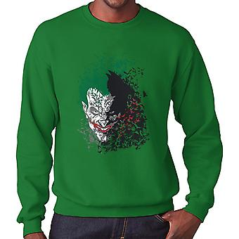 Batman Dark Knight Arkham Bats Joker Men's Sweatshirt