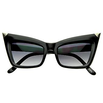 Cateye Super NYC Designer ispirato gatto occhio tagliente punta occhiali da sole moda