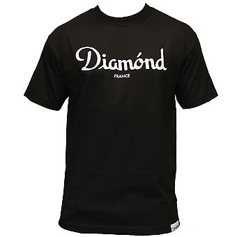 Diamond Supply Co Champagne T-shirt Black