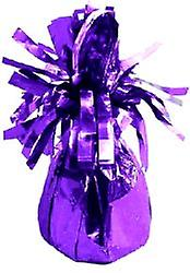Balloon Weight Foil Wrapped Purple