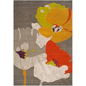 Short-pile woven rug living room indoor carpet colorful flowers of indoor rugs - Pacific Orchid multicolor 92 / 152 cm - rug for the living room inside