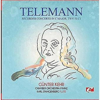 Telemann - optager koncert i C dur Twv 51:C1 [CD] USA import