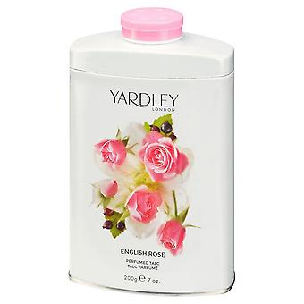 Yardley engelsk Rose parfumeret talkum 200g