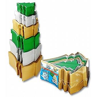 6 Christmas Tree Coloured Stacking Boxes - for Crafts & Gifts
