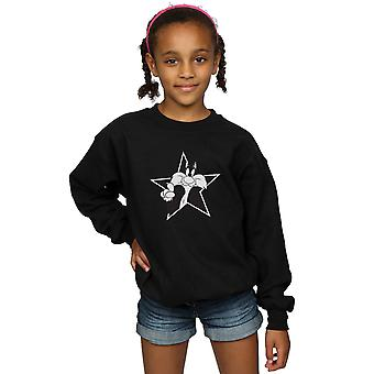 Looney Tunes Girls Sylvester Mono Star Sweatshirt
