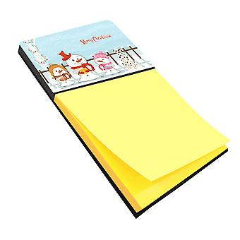 Merry Christmas Carolers Dalmatian Sticky Note Holder