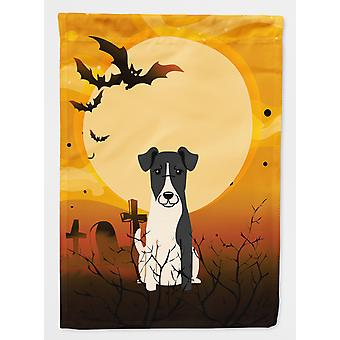 Carolines Treasures  BB4364GF Halloween Smooth Fox Terrier Flag Garden Size