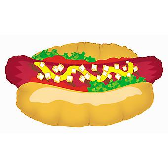 Oaktree Betallic 32 Inch Hot Dog Shaped Balloon