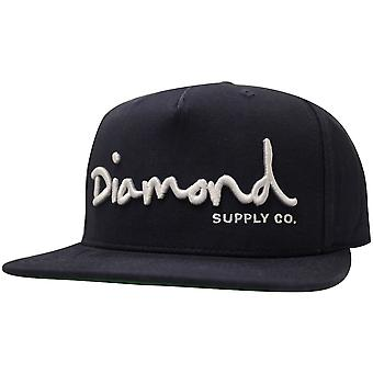 Diamond Supply Co OG Skript Snapback Navy
