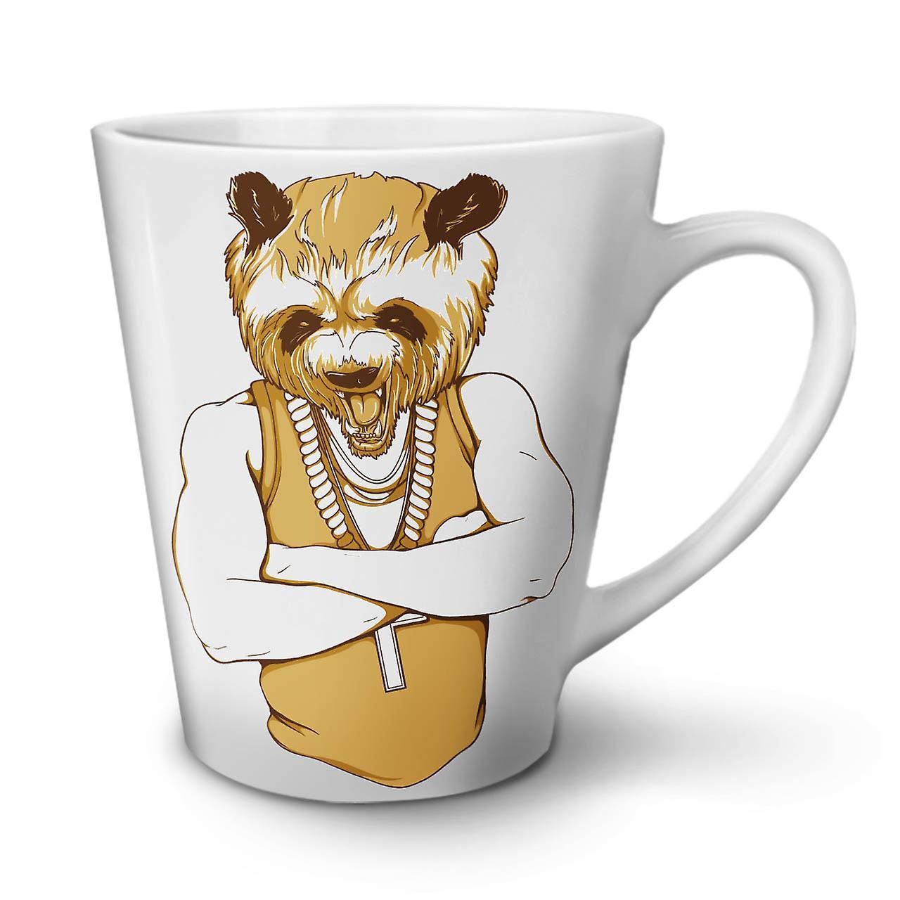 OzWellcoda Nouveau Latte Café Panda Humain Cool Céramique En Mug Blanc 12 Thé lc3uFK1TJ5