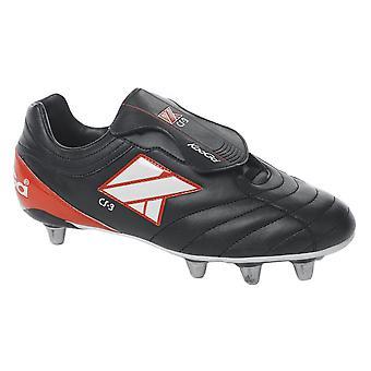 Futbol CS-3 bajo corte suave Rugby botas de punta [negro]