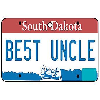 South Dakota - Best Uncle License Plate Car Air Freshener
