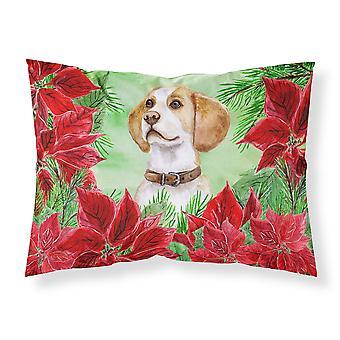 Beagle Poinsettas Fabric Standard Pillowcase