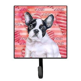 French Bulldog Black White Love Leash or Key Holder