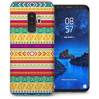 Samsung Galaxy S9 Plus aardse Azteekse Quilt TPU Gel geval – geel