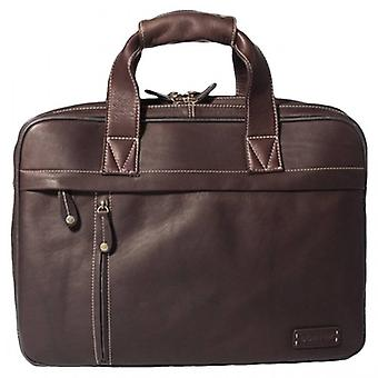 Cortez Twin Handle Briefcase - Dark Brown