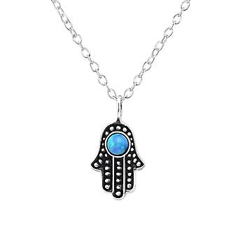 Hamsa - 925 Sterling Silver Jewelled Necklaces - W34566x
