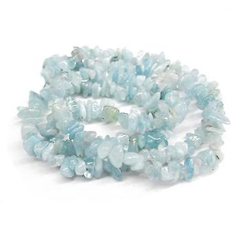 Long Strand 240+ Pale Blue Aquamarine 5-8mm Chip Beads GS3089