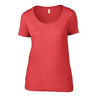 Anvil Ladies Short Sleeve Sheer Scoop T-Shirt