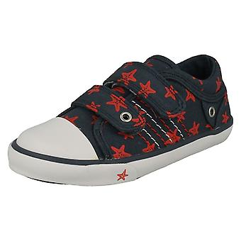 Childrens Boys/Girls Startrite Casual Shoes Zip - Navy Canvas - UK Size 1.5F - EU Size 33.5 - US Size 2.5