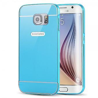 Aluminium bumper 2 pieces with cover blue for Samsung Galaxy Galaxy S6 edge G925 G925F