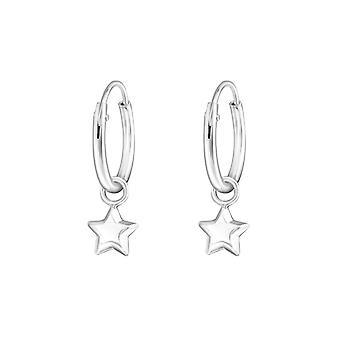 Star - 925 Sterling Zilver oor hoepels